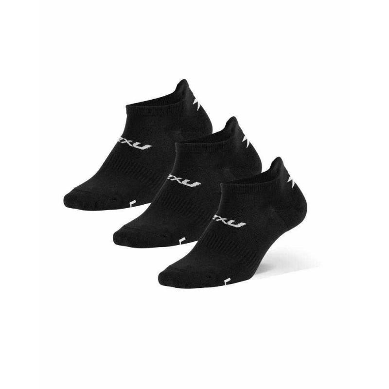 2XU Ankle Socks Black/White (Triple Pack)