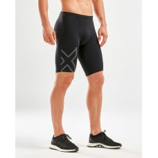 2XU Aspire Mens Compression Short Black/Silver