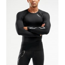 2XU Compression Long Sleeve Top Black/Silver