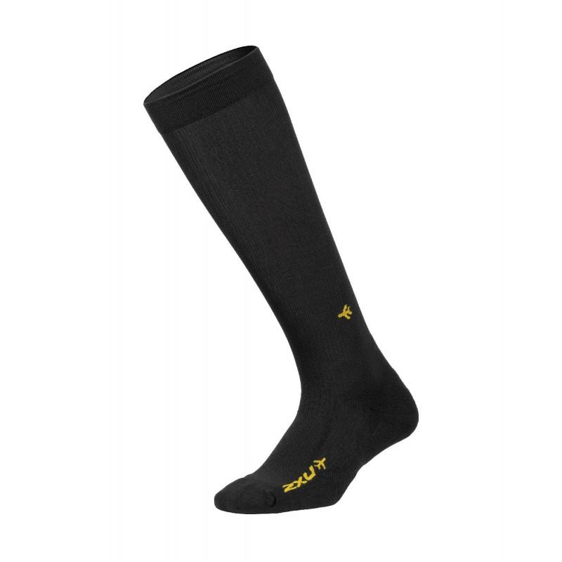 2XU Flight Compression Socks Black/Black