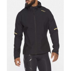 2XU GHST Running Waterproof Jacket Black/Gold Reflective