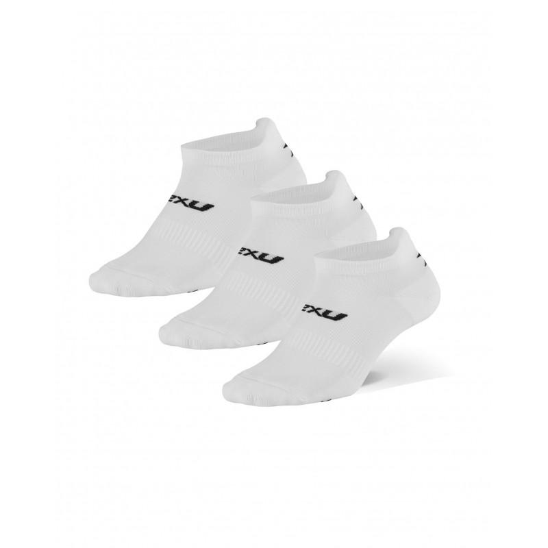 2XU Invisible Socks White/Black (Triple Pack)