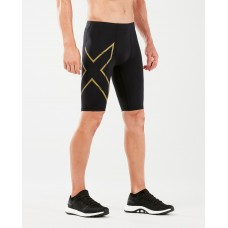2XU MCS Running Compression Shorts Black/Gold Reflective