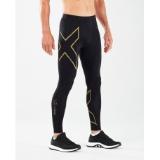 2XU MCS Running Compression Tight W/Back Storage Black/Gold Reflective