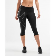 2XU MCS Running Compression Women 3/4 Tights Black/Black Reflective