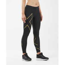 2XU MCS Running Compression Women Tights Black/Gold Reflective