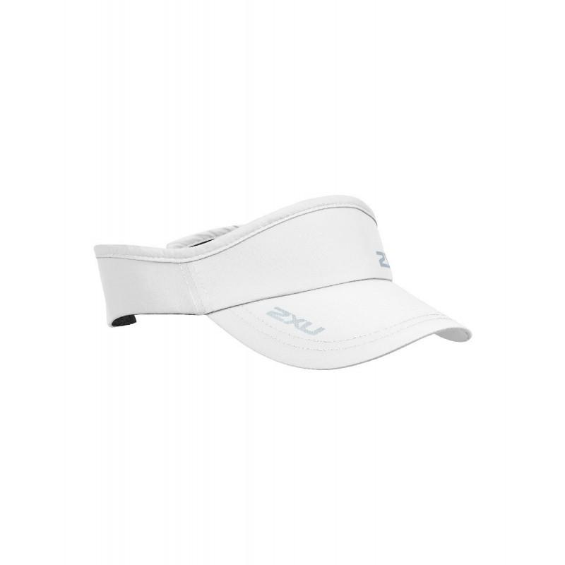 2XU Running Visor OSFA White/White