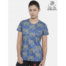 Audax India PBP Womens Cycling T-shirt Indigo