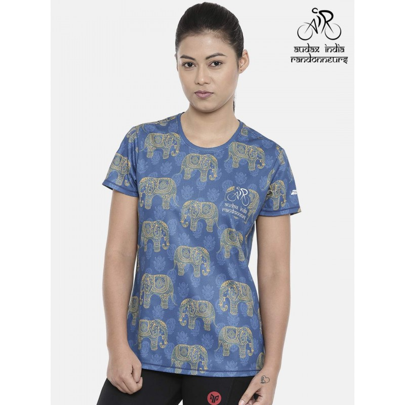 Audax India PBP Womens Cycling T-shirt Indigo