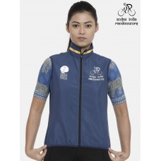 Audax India PBP Womens Cycling Gilet Indigo
