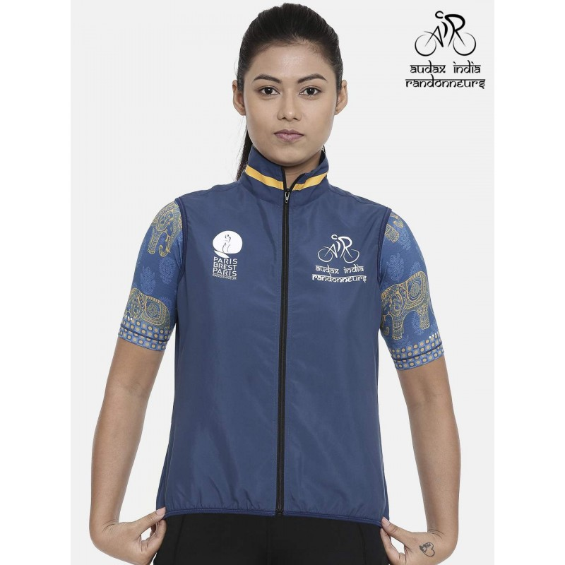 Audax India PBP Womens Cycling Gilet Indigo (Ships By 11th July 2019)