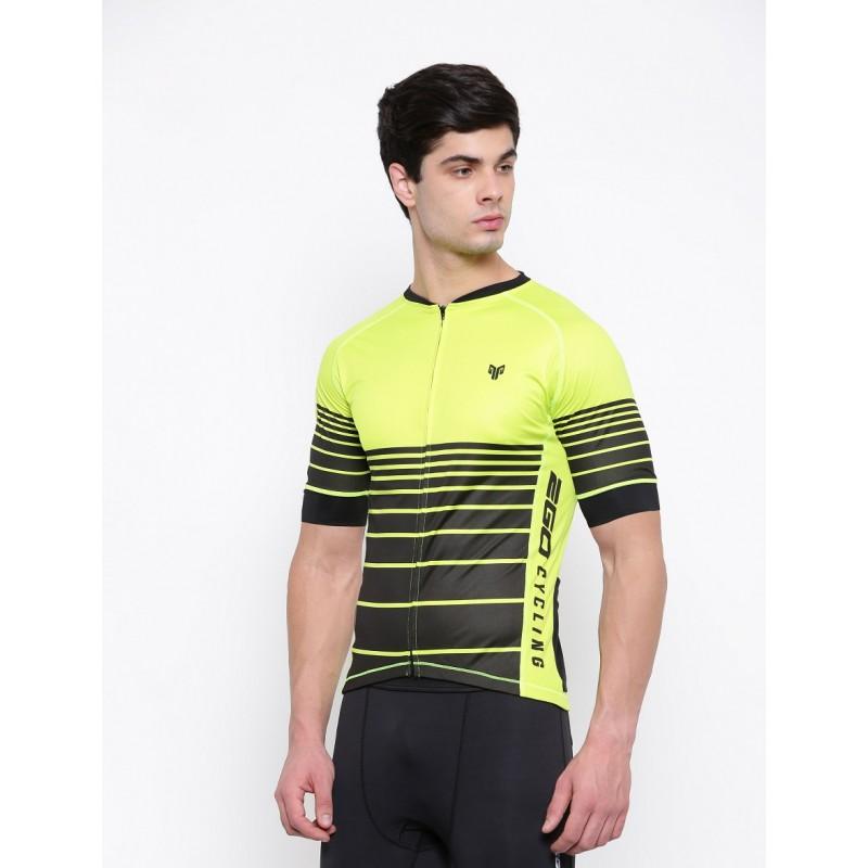 2GO Cycling Jersey Lemon Green
