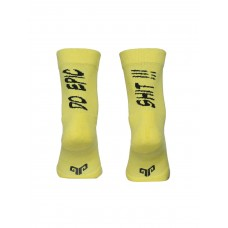 2GO Do Epic Shit Pull Up Cycling Socks Yellow