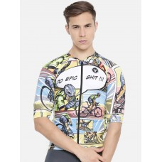2GO Do Epic Shit Race Fit Cycling Jersey Celery