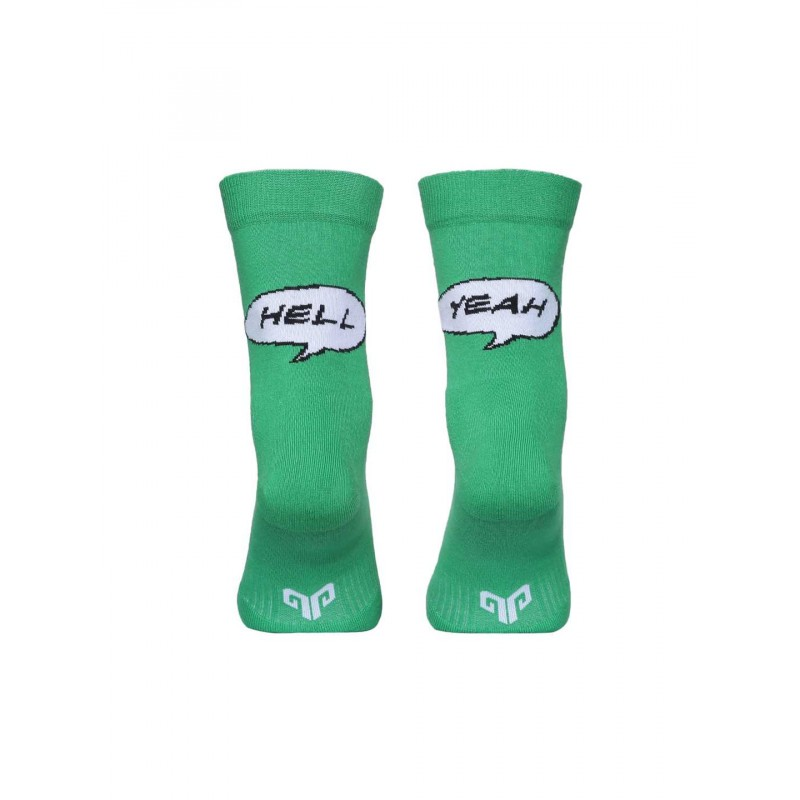 2GO Hell Yeah Pull Up Cycling Socks Green