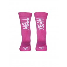 2GO Hell Yeah Pull Up Cycling Socks Pink