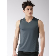 2GO Men Charcoal Solid V-Neck Vest Shark Grey (EL-GVS145-S8)