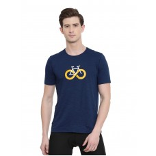 2GO Men Cycling Inspired T-shirt Prussian Blue