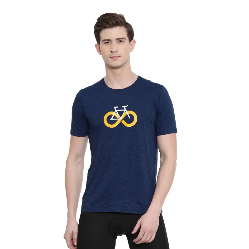 2GO Men Cycling Inspired T-shirt Prussian Blue