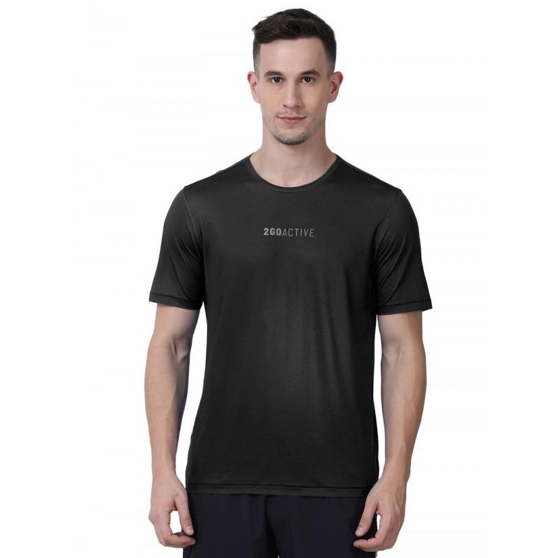 2GO Men Fashion T-shirt Black (EL-GTS473-A9)