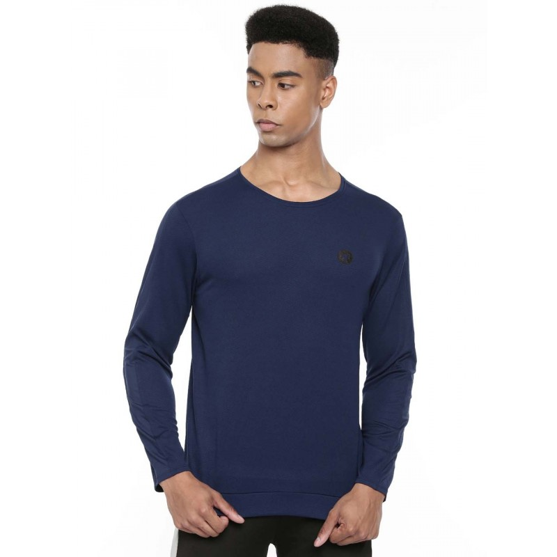 2GO Men Full Sleeve Sports T-Shirt Prussian Blue (EL-GTS416-A9)