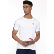 2GO Men Round Neck Half sleeves Sports T-Shirt Pace White (EL-GTS321-A9)