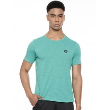 2GO Men Round Neck Cotton Half sleeves T-Shirt Aqua (EL-GTS224-A9)