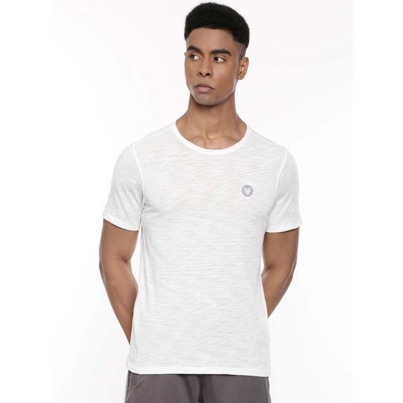 2GO Men Round Neck Cotton Half sleeves T-Shirt Pace White (EL-GTS224-A9)