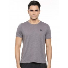2GO Men Round Neck Cotton Half sleeves T-Shirt Shark Grey (EL-GTS224-A9)