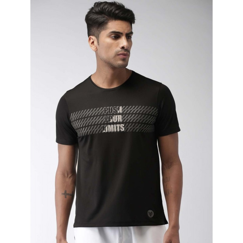 2GO Men Running T-Shirt Bold Black (EL-GTS356-S9)