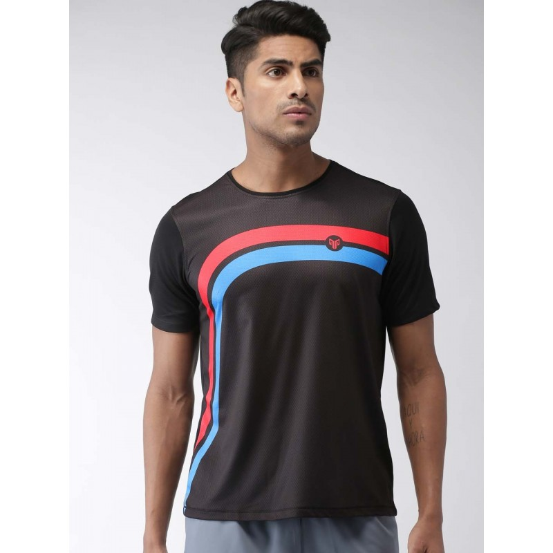 2GO Men Running T-shirt Bold Black (EL-GTS358-S9)