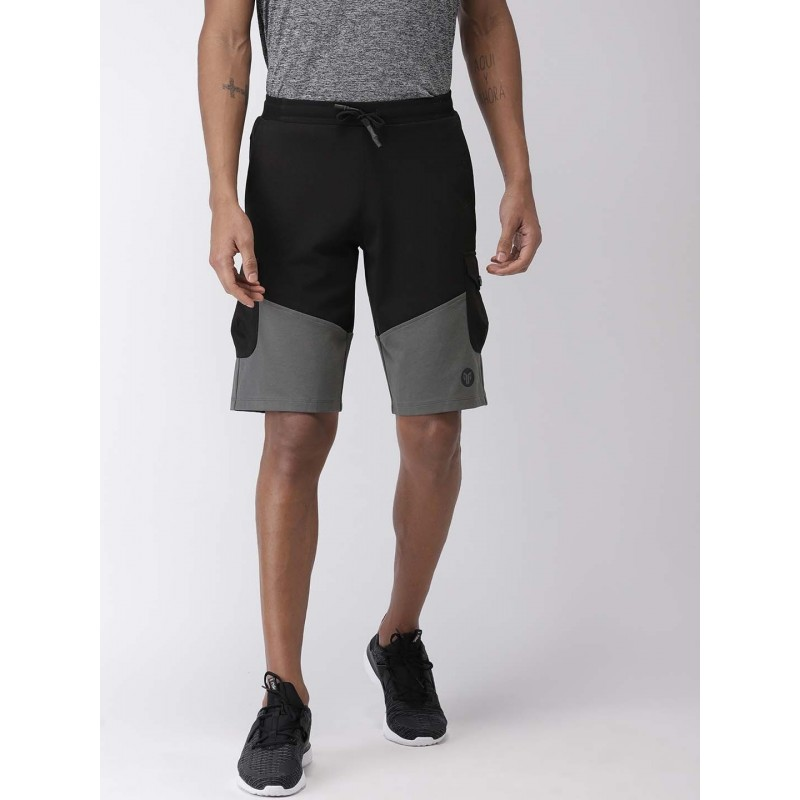 2GO Men Yoga Shorts Bold Black (EL-GSH402-S9)