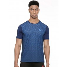 2GO Men Round Neck Shorts Sleeves T-Shirt Prussian Blue (EL-GTS413-A9)
