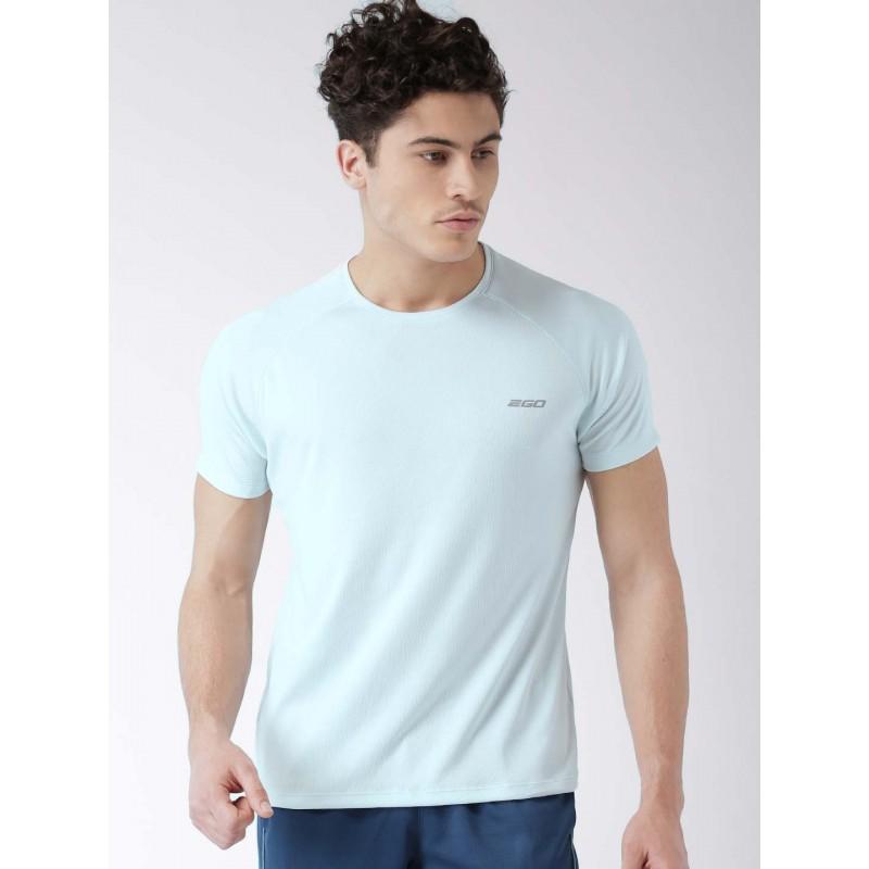 2GO Men Sky Blue Solid Round Neck T-Shirt Arctic (EL-GTS139-S8)