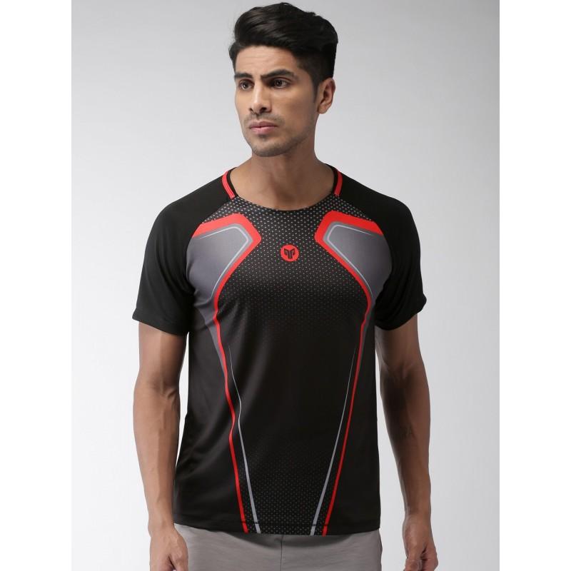 2GO Men Sports T-shirt Bold Black (EL-GTS368-S9)