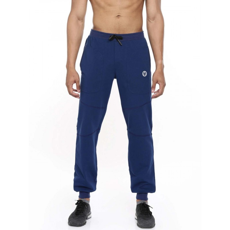 2GO Men Cotton Yoga Track Pant Prussian Blue (EL-GTP279-A9)