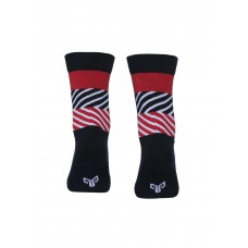 2GO Pull Up Cycling Socks Navy Red