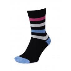 2GO Pull Up Length Cycling Socks Black