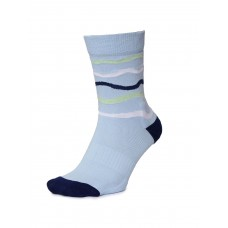 2GO Pull Up Length Cycling Socks Light Blue