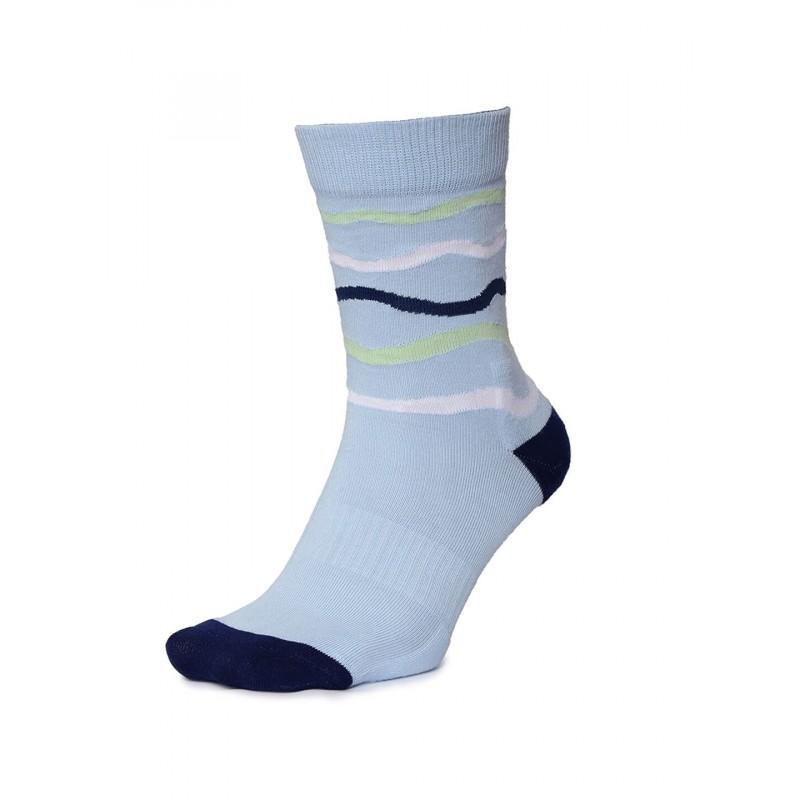2GO Pull Up Length Cycling Socks Light Blue