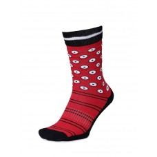 2GO Pull Up Length Cycling Socks Red Black
