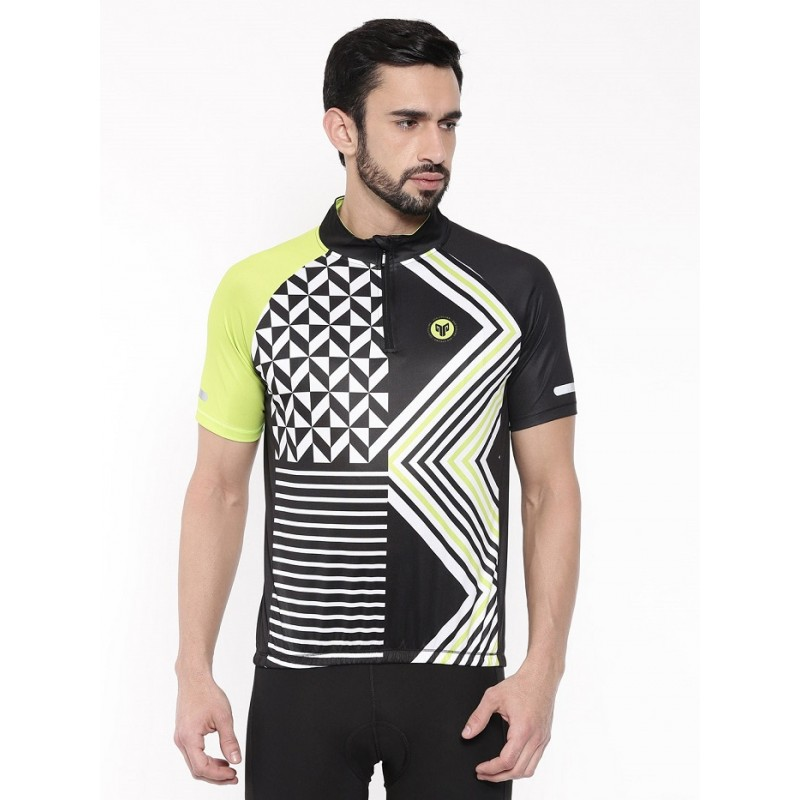 2GO Comfort Fit Men Cycling Jersey Black