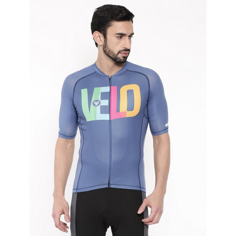 2GO Velo Love Men Cycling Jersey Prussian Blue