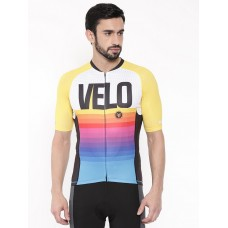2GO Velo Love Men Cycling Jersey Yellow (GCJ-SCF-21)