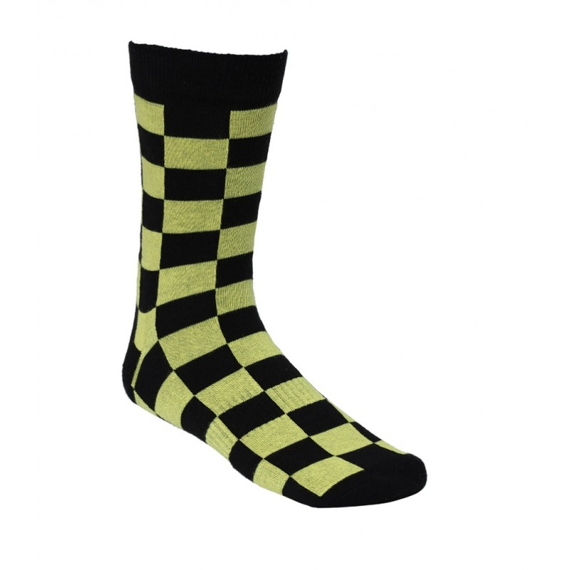 2GO Pull Up Cycling Socks Black Yellow
