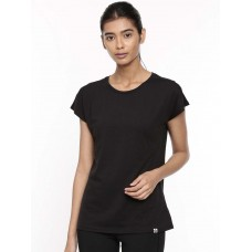 2GO Women Cotton Rich T-Shirt Black (EL-WTS418-A9)