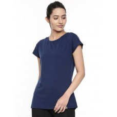 2GO Women Cotton Rich T-Shirt Prussian Blue (EL-WTS418-A9)