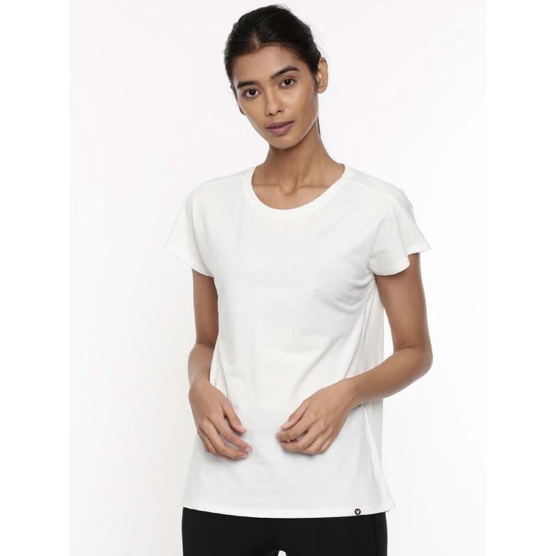 2GO Women Cotton Rich T-Shirt Pace White (EL-WTS418-A9)