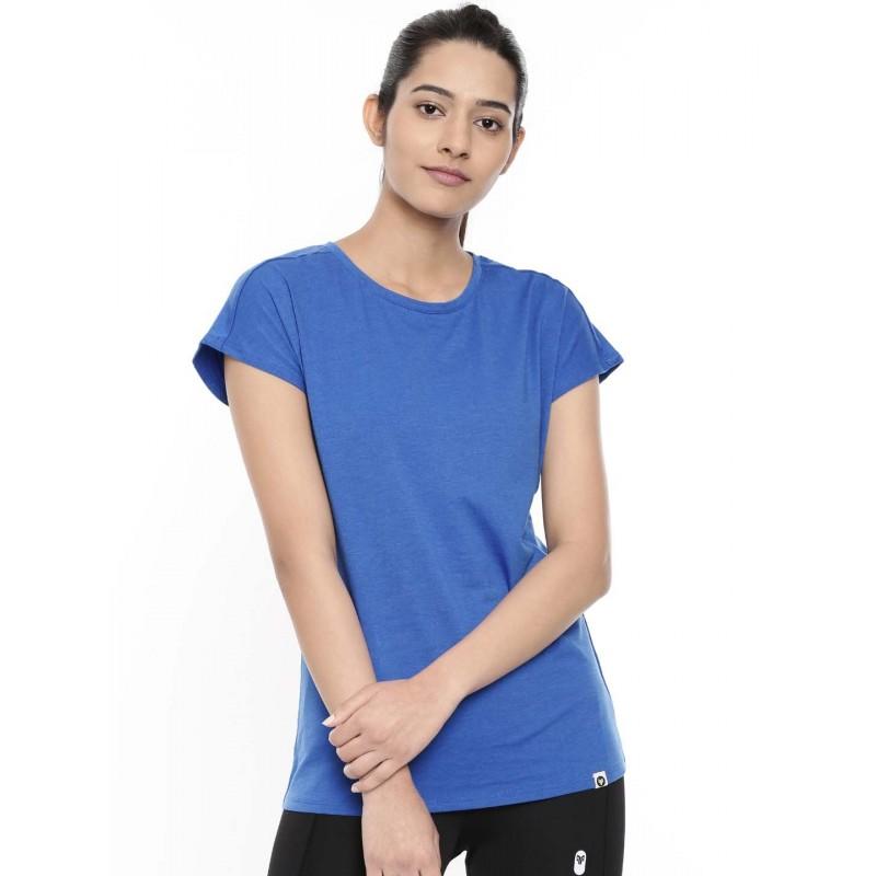 2GO Women Cotton Rich T-Shirt Sapphire Blue (EL-WTS418-A9)