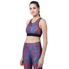 2GO Women Fashion Sports Bra Camo Blue (EL-WSB472-A9)
